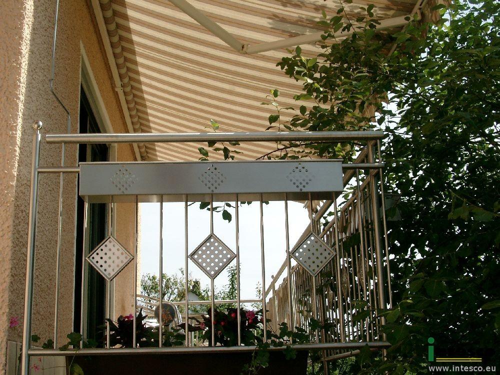 balkongel nder blumenkasten edelstahl intesco s r o. Black Bedroom Furniture Sets. Home Design Ideas