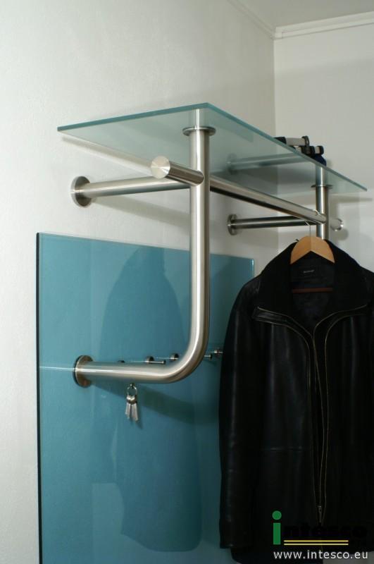 designer garderoben edelstahl garderobe glas edelstahl intesco s r o. Black Bedroom Furniture Sets. Home Design Ideas
